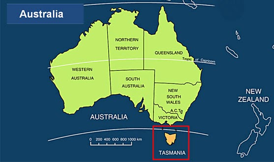tassie map